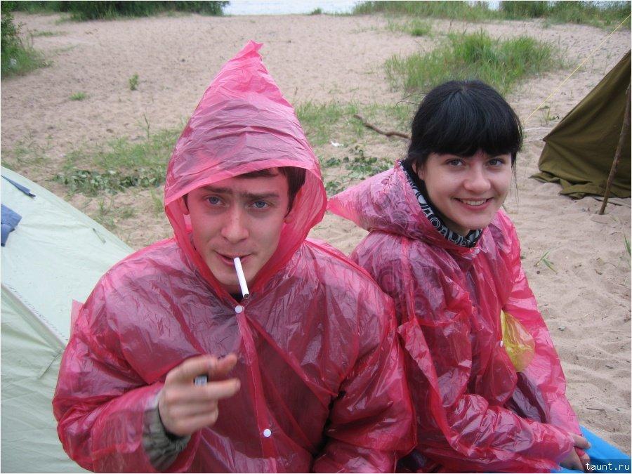 Веселые под дождем