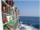 Волны бьются о борт корабля