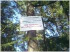 табличка в питерском парке