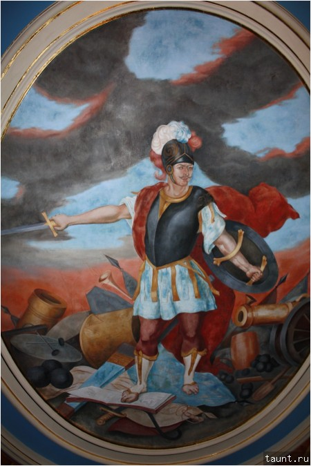 Петр I на потолке