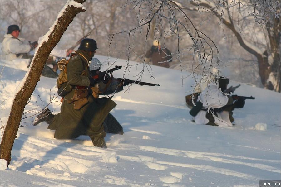 Немцы переходят в наступление