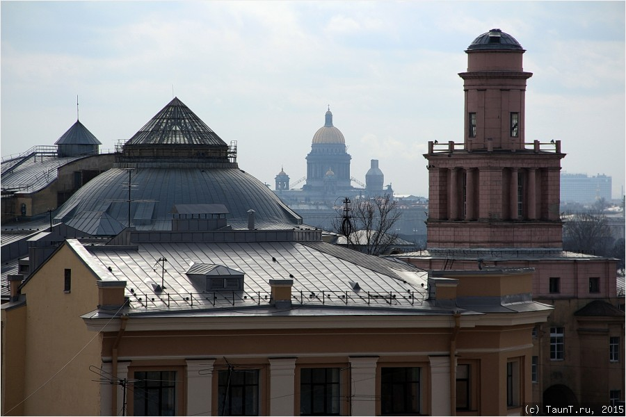 Исаакиевский собор с крыши