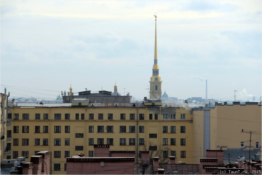 Петропавловка с крыши бизнес-центра