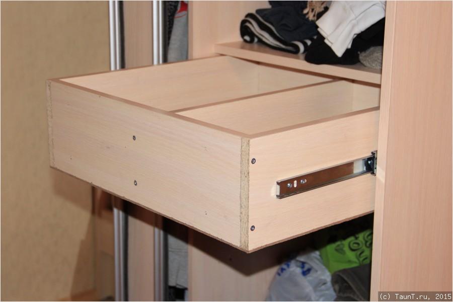 Как сделать ящики в шкаф самому.