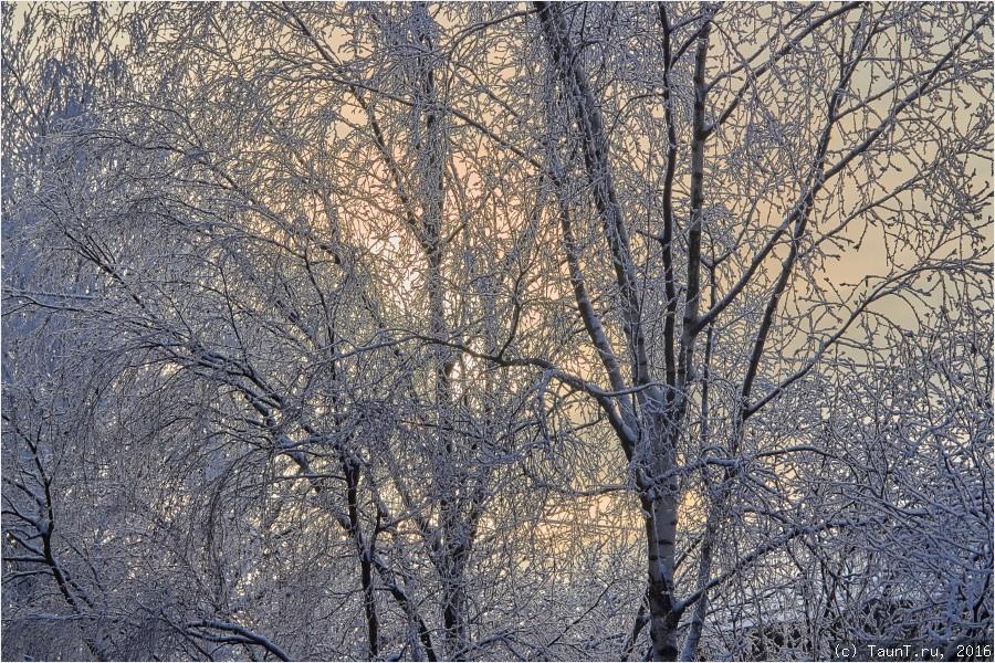 Закат на морозе